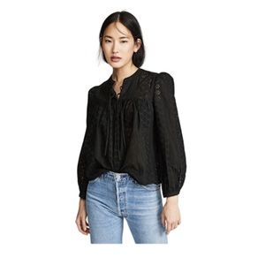 Madewell | Eyelet Double Tie Peasant Top